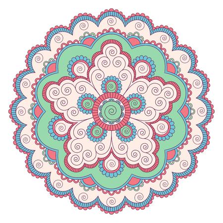 Ethnic ornamental mandala. Decorative design element. Hand drawn illustration.
