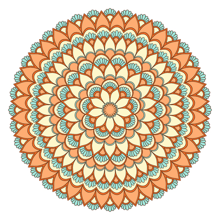 Ethnic ornamental mandala. Illustration