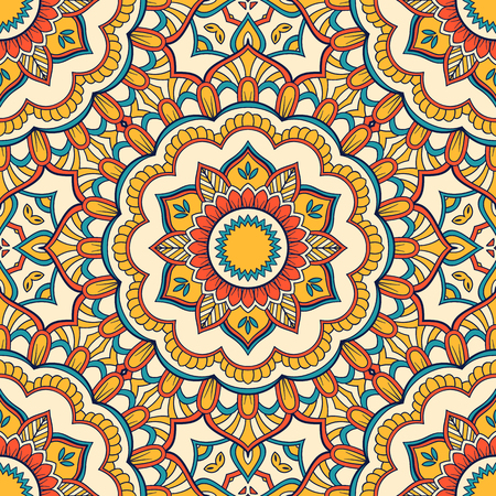 Hand drawn ornamental seamless pattern. Vector Illustration Illustration