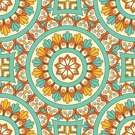 Hand drawn ornamental seamless pattern. Vector Illustration Illustration