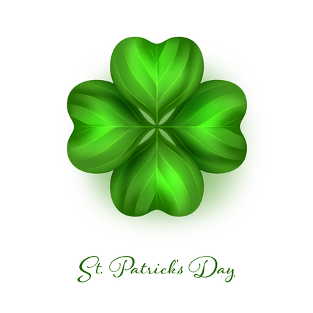 Saint Patricks day. Four leaf irish clover Vector Illustration