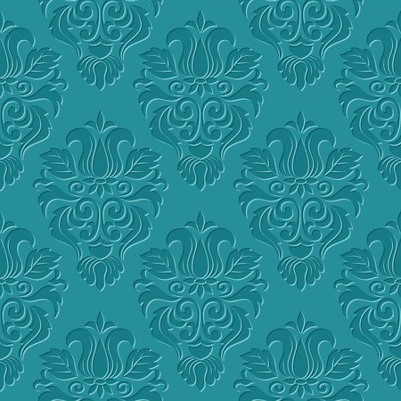 Vintage damask seamless pattern. Classical luxury texture for wallpapers, wrapping, textile. Vector Illustration Vectores