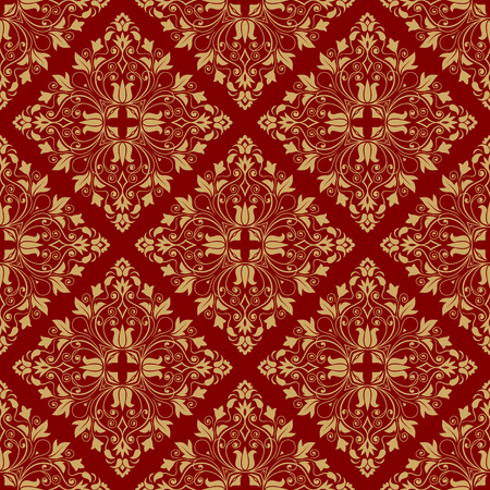 Vintage pattern classical luxury texture for wallpapers, wrapping, textile brown cross marked vector illustration