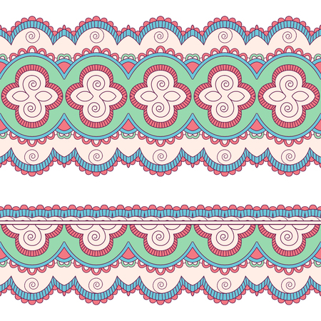 Ethnic seamless border. Hand drawn vector illustration Illustration