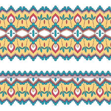 Ethnic seamless border. Hand drawn vector illustration Illustration