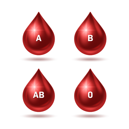 World blood donor day poster. Realistic blood drops. Vector Illustration Illustration