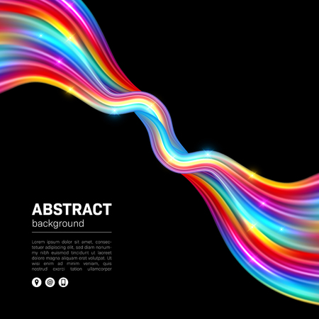Smooth colorful waves. Abstract background with space for text. Illustration