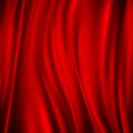 Sfondo in tessuto liscio di raso rosso di lusso per feste, cerimonie, biglietti di invito a eventi o poster pubblicitari illustrazione vettoriale