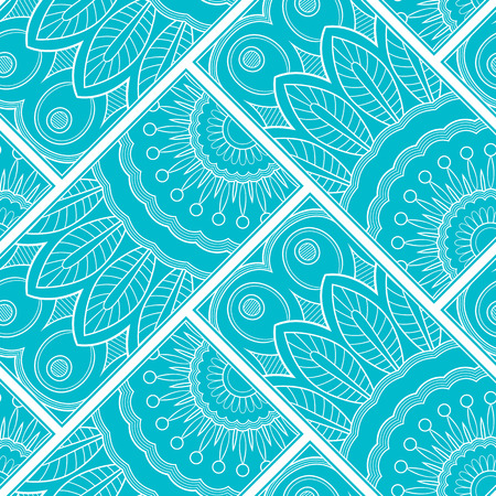 Line art seamless pattern for fabric or wrapping paper. Background with hand-drawn elements Иллюстрация