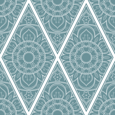 Line art seamless pattern for fabric or wrapping paper. Background with hand-drawn elements Stock Illustratie