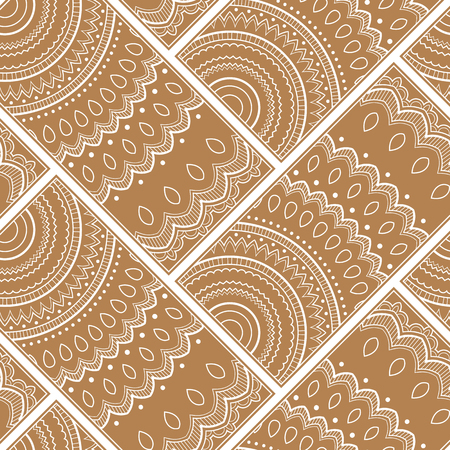 Line art seamless pattern for fabric or wrapping paper. Background with hand-drawn elements Illustration