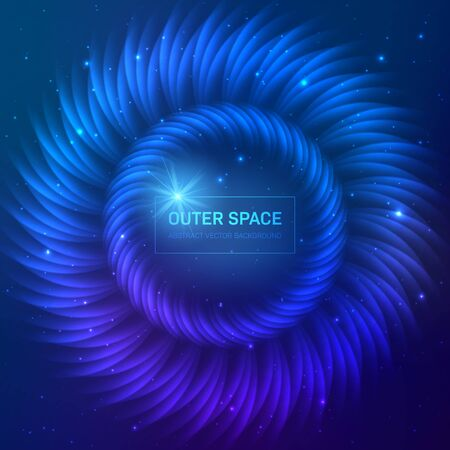 Dark blue cosmic background with stars and light effects Stock fotó - 129303510