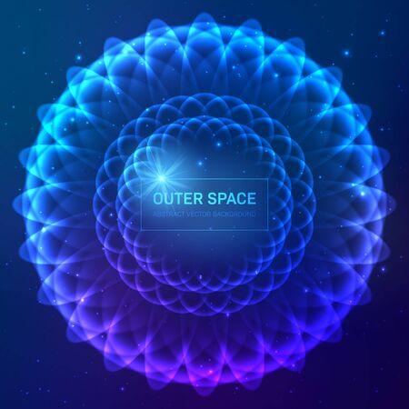 Dark blue cosmic background with stars and light effects Zdjęcie Seryjne - 129303535