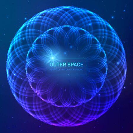 Dark blue cosmic background with stars and light effects Zdjęcie Seryjne - 129303536