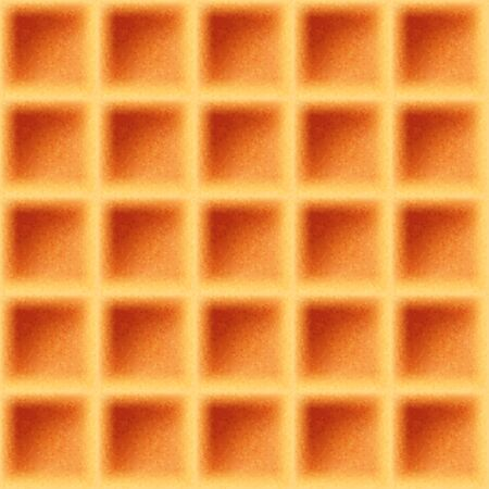 Realistic 3d delicious belgian waffle seamless pattern