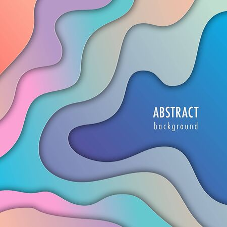 Abstract background with colorful paper cut shapes. Design concept for poster, banner or flyer Stock Illustratie