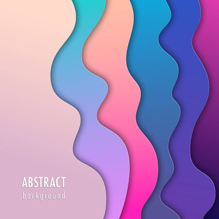 Abstract background with colorful paper cut shapes. Design concept for poster, banner or flyer Illusztráció