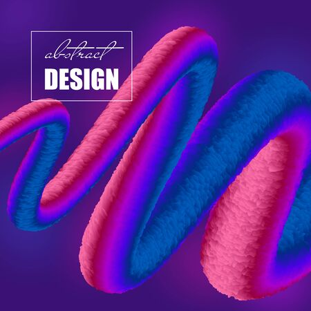 Colorful abstract background with futuristic gradient waves. Trendy illustration for business poster, web banner, landing page or cover