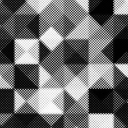 Black and white abstract background with halftone pattern