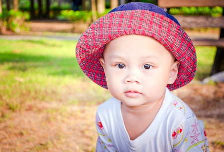 Kid in nature park Stock Photo - 17252884