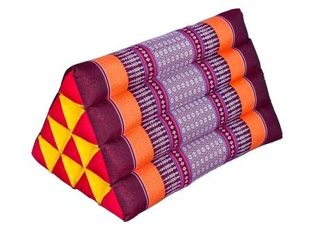 ornately: Triangle lai thai cushion  Ornately weaved fabric bind this classic