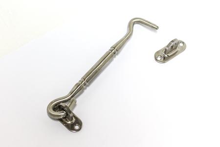 hook up: Close up of door hook on background