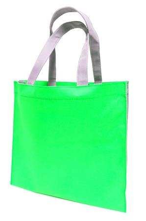Green bag on white background