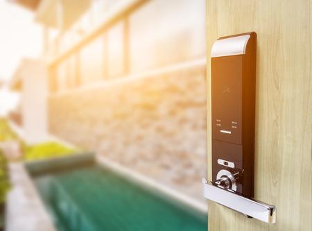 door handle: Smart digital lock security for Door access control