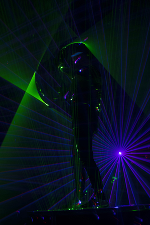 Disco dance with special effects and fantastic laser show Reklamní fotografie