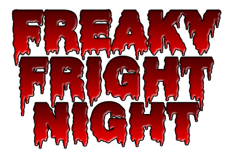 fright: Illustration of freaky fright night title, a halloween theme isolated on white.