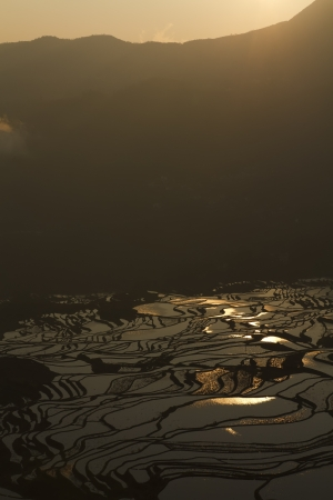 yuanyang: rice terraces of yuanyang Stock Photo