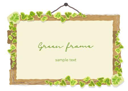 Vine Sign Frame  イラスト・ベクター素材