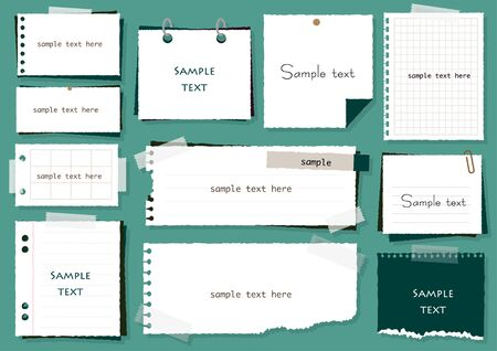 Set of simple notepad frames