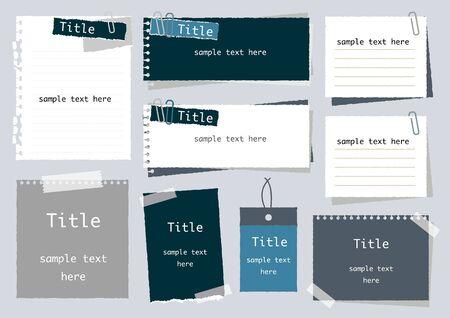 Set of simple notepad frames
