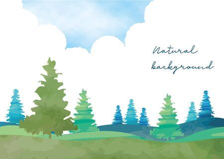 Refreshing plateau background frame