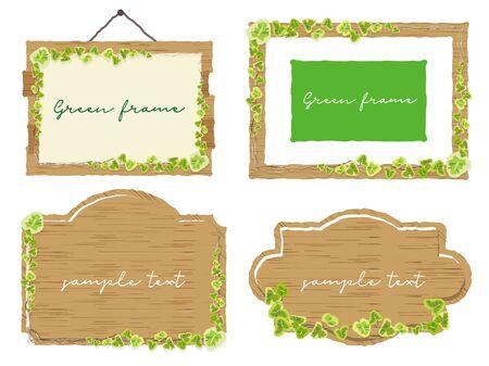 Vine Sign Frame Set Ilustração