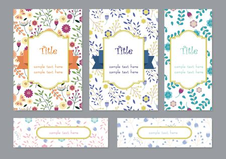 Flower Card Set 2