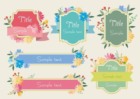 Beautiful Flower Frame Set