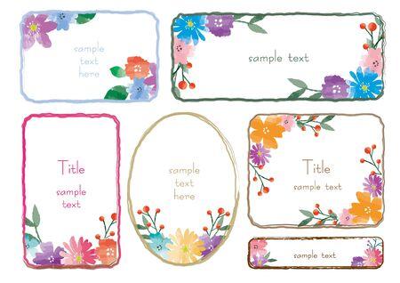 Flower Frame Set Ilustrace