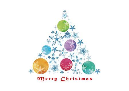 Christmas Ball and Snow crystal Christmas tree