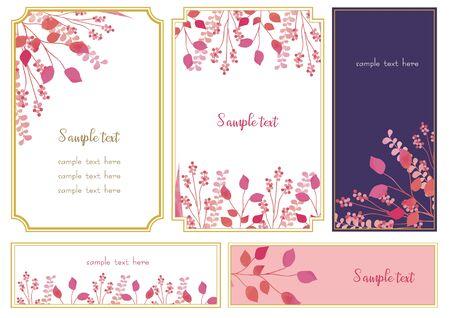 Pink Flower Frame Set