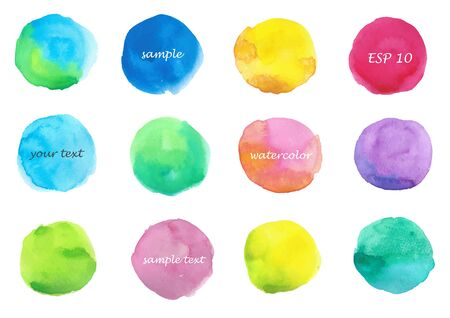 Watercolor Round Frame Set