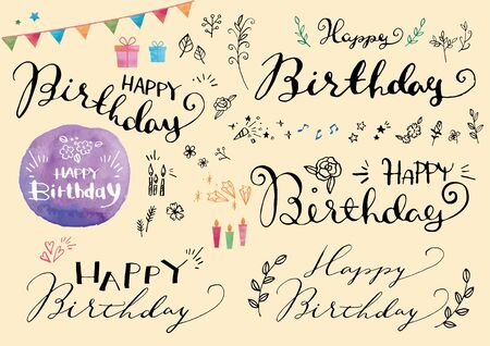 Design materials for birthdays