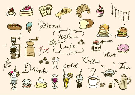 Hand-painted Cafe Material Set
