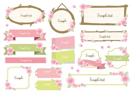 Cherry Blossom Frame Set Çizim
