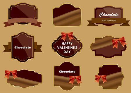 Chocolate Frameset  イラスト・ベクター素材