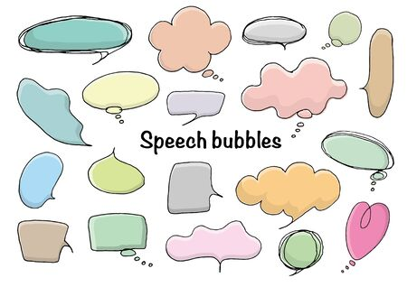 Handwritten speech bubble set