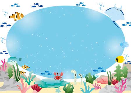 Sea Creatures Frame Foto de archivo - 168205887