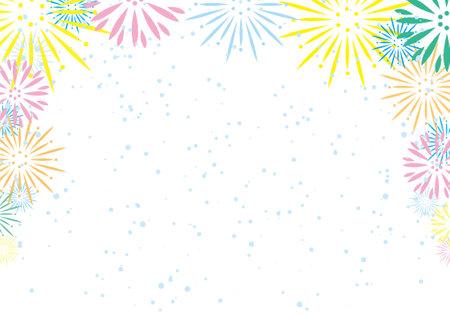 Fireworks Background Frame