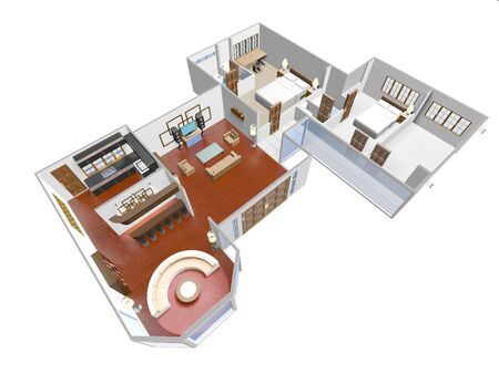 Home Interior 3D render